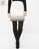 White House Black Market Petite Embroidered Ombre Boot Skirt