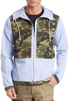 PRPS Men's Hooded Chambray Jacket