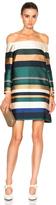 Rosetta Getty Color Blocked Satin Mini Dress
