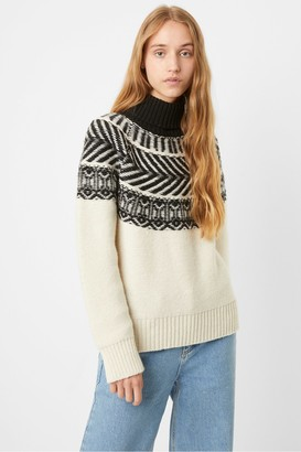 French Connection Vintage Fairisle Roll Neck Jumper