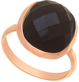 Bliss Black Cubic Zirconia & Rose Gold Ring