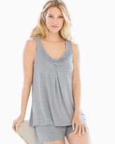 Soma Intimates Cool Nights Pajama Tank Heather Silver