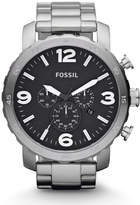 Fossil Nate Chronograph Stainless Steel Watch