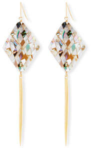 Devon Leigh Mosaic Shell Spike Drop Earrings