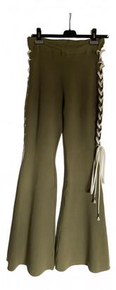 FENTY PUMA by Rihanna Khaki Cotton Trousers for Women