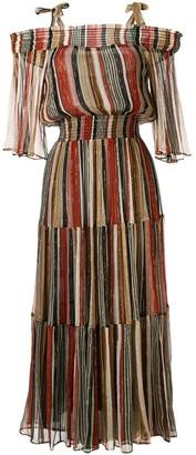 Ginger & Smart Epoque off-the-shoulder maxi dress
