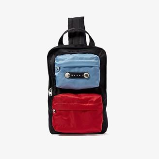 Marni Single Strap Sling Bag (Black/Lake/Rust) Handbags