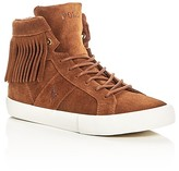 Ralph Lauren Girls' Winona Fringe High Top Sneakers - Big Kid