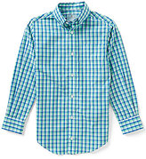 Class Club Big Boys 8-20 Button-Down Long-Sleeve Checked Shirt