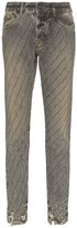 Filles a papa crystal-stripe distressed jeans