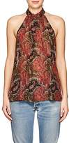 Raquel Allegra Women's Paisley Silk Sleeveless Blouse