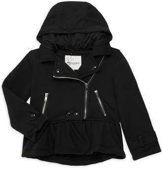 Urban Republic Little Girl's Hooded Moto Jacket
