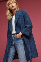 Anthropologie Calgary Quilted Wrap Coat, Blue