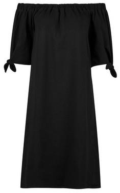 Dorothy Perkins Womens Tall Black Bardot Dress, Black