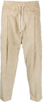 Drôle De Monsieur Ribbed Drawstring Trousers