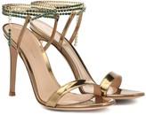 Gianvito Rossi Serena 105 metallic leather sandals