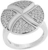 Orphelia Women's Ring 925 Silver Rhodium Plated Cubic Zirconium White Diamond Cut/6043/60 Size 60 (19.1)