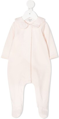 Scalloped Collar Cotton Pajama