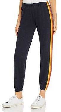 Aviator Nation Rainbow Stripe Sweatpants
