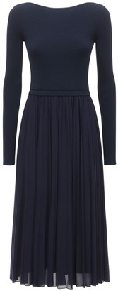 Sportmax Falena Pleated Knit Midi Dress