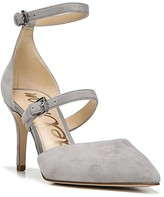 Sam Edelman Thea Pointed Toe d'Orsay Ankle Strap Pumps