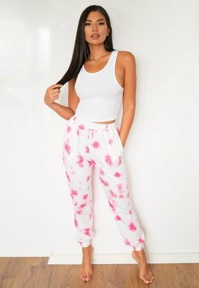 Missguided Pink Tie Dye Loungewear Joggers