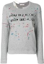 Valentino letter print sweatshirt