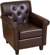 Asstd National Brand Veronica Bonded Leather Tufted Club Chair