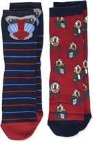 Fat Face Boy's 2Pk Baboon Socks