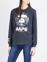 AAPE Logo-print cotton-jersey top