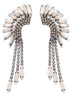 Elizabeth Cole Mohawk Earring White