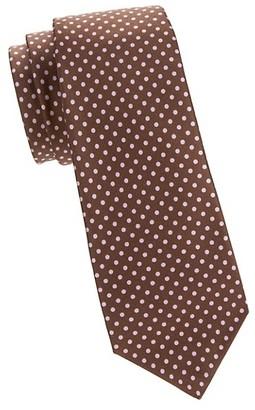 Kiton Pin Dot Silk Tie