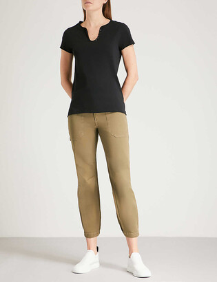 Zadig & Voltaire Tunys V-neck cotton-jersey T-shirt