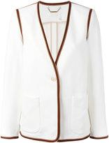 Chloé ribbon trim blazer - women - Acetate/Viscose/Silk - 38