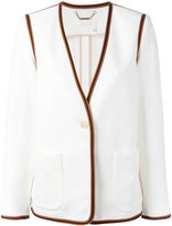 Chloé ribbon trim blazer - women - Silk/Acetate/Viscose - 38