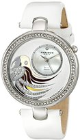 Akribos XXIV Women's AK602WT Lady Diamond Parrot Dial Swiss Quartz Leather Strap Watch