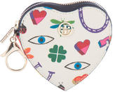 Tory Burch Heart Keychain Wallet