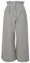 Topshop Women's Ruffle Trim Gingham Trousers