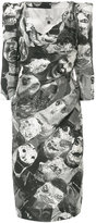 Vivienne Westwood printed fitted dress - women - Cotton/Viscose - 40