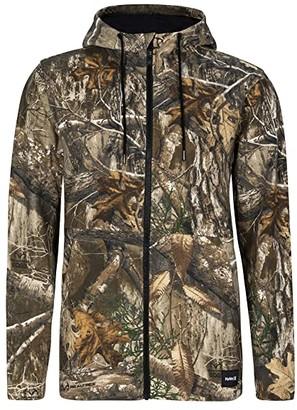 Hurley Realtree(r) Full Zip Fleece (Edge Camo) Men's Clothing