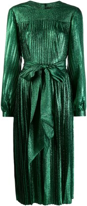 Marc Jacobs pleated lame dress