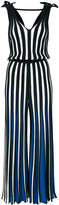 MSGM striped wide leg jumpsuit - women - Cotton/Viscose - M