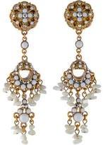 Jose & Maria Barrera Crystal Chandelier Earrings