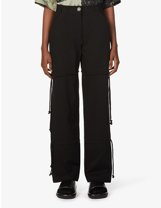 Song For The Mute Drawstring straight-leg high-rise cotton trousers