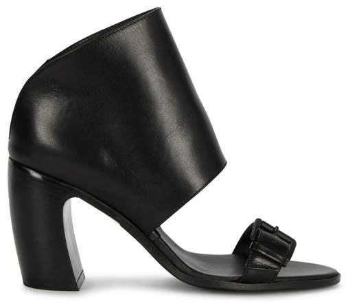 Ann Demeulemeester Nappa Black Leather Ankle Boots