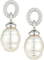 Majorica 14mm Baroque Simulated Pearl Loop Drop Earrings