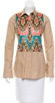 Figue Embellished Button-Up Top