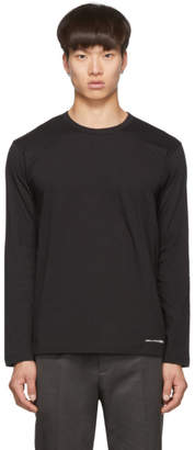 Comme des Garcons Black Logo Hem Long Sleeve T-Shirt