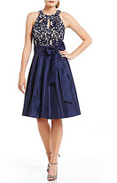 Jessica Howard Petite Lace Keyhole Party Dress
