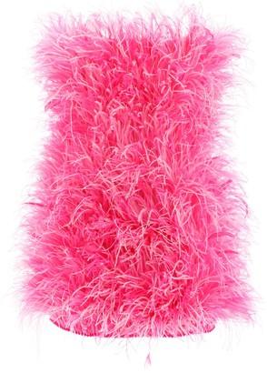 ATTICO All Over Feather Mini Dress